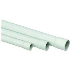 Tube rond PVC, 2 m EN 25 mm, gris