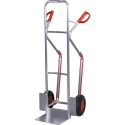 Diable alu 200 kg H 1300 mm roue gonflable 260x85 mm